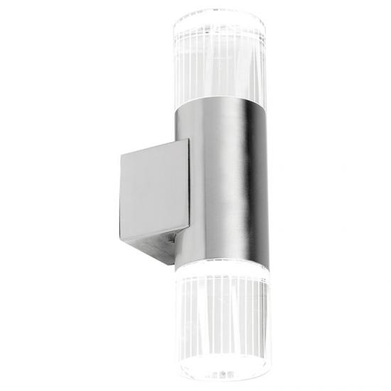 1255-001 Outdoor LED Crystal Glass with Stainless Steel Wall Lamp
