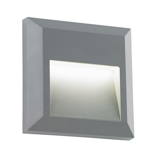 19127-001 LED Grey Surface Downlight Square Brick Light