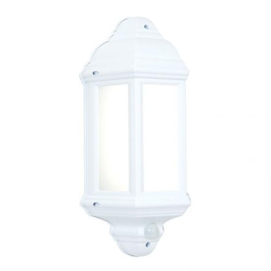 31552-001 LED White Half Lantern Sensor Wall Lamp