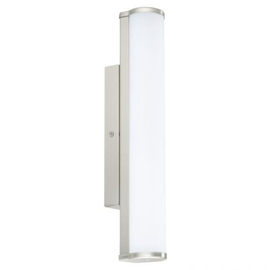 31408-002 Bathroom LED White and Nickel over Mirror Small Wall Lamp