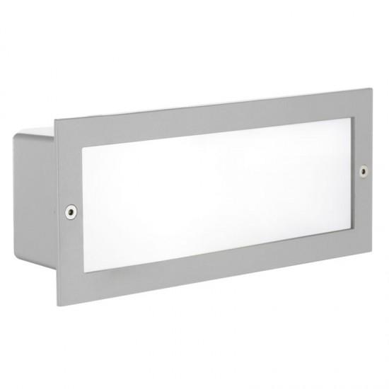 3316-002 Outdoor Silver Recessed Brick Light