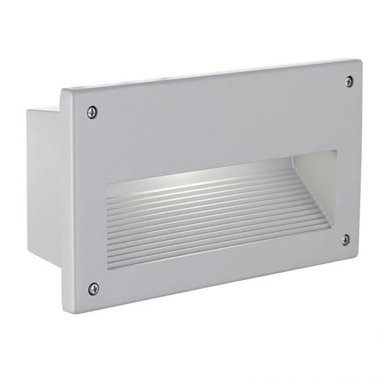 3347-002 Outdoor Silver with Glass Recessed Brick Light
