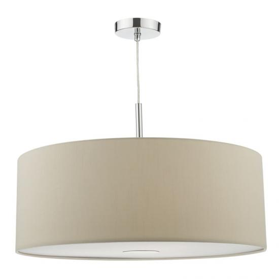 3728-003 Taupe Fabric with Diffuser 3 Light Pendant - ∅ 60
