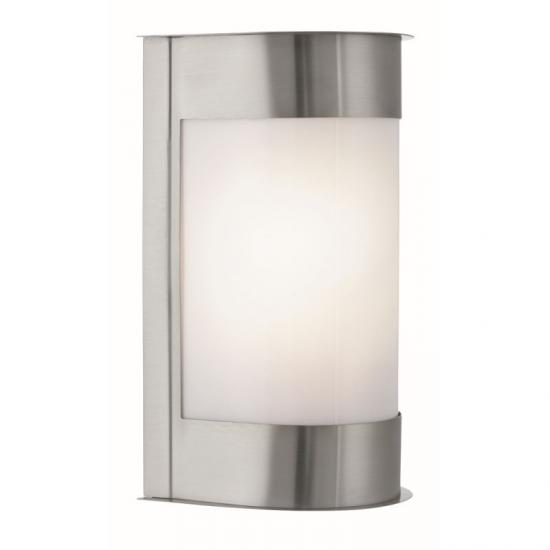 8862-006 Outdoor Satin Silver with White Diffuser Wall Lamp
