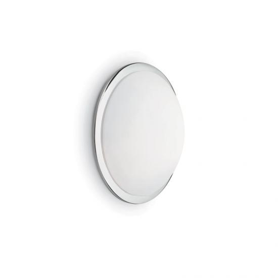 10602-007 Round Frosted Glass with Chrome 3 Light Ceiling Lamp