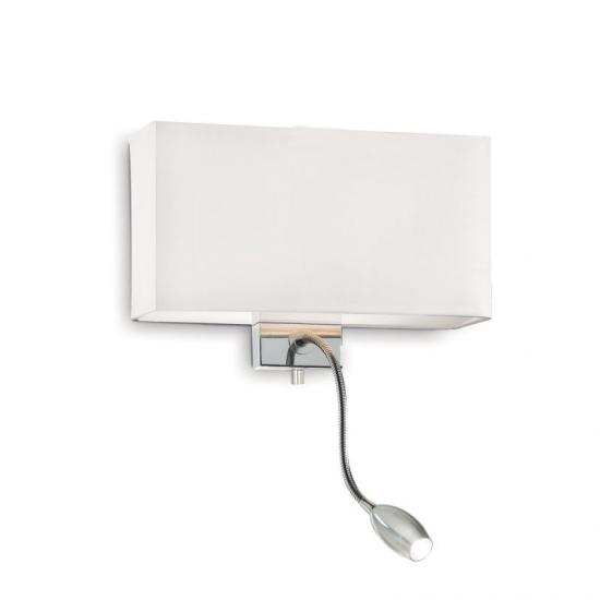 10152-007 White Fabric Mother & Child LED Wall Lamp