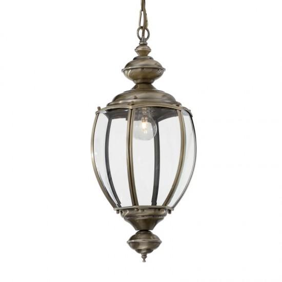 10419-007 Antique Brass Lantern Hanging Pendant