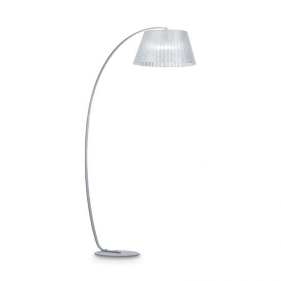 10481-007 Adjustable Silver Fabric Floor Lamp