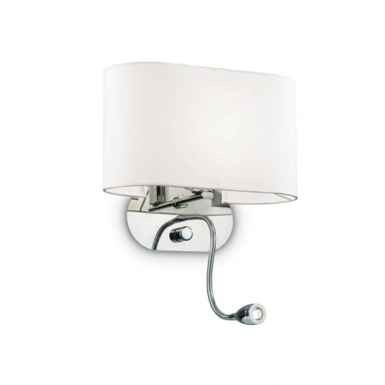 10634-007 White Fabric Mother & Child LED Wall Lamp