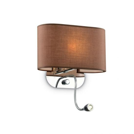 10635-007 Brown Fabric Mother & Child LED Wall Lamp