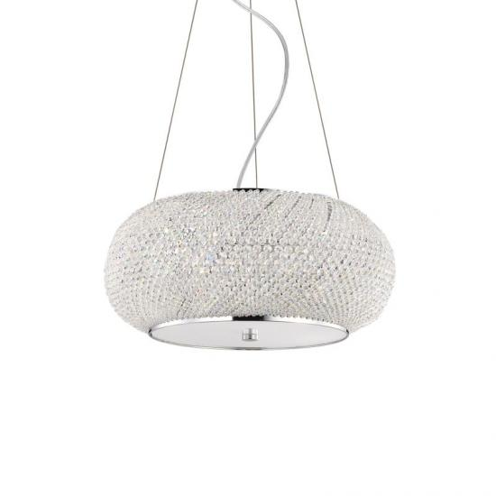21560-007 Crystal with Chrome 6 Light Hanging Pendant