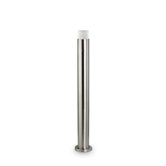21584-007 Outdoor Big Brushed Steel Bollard