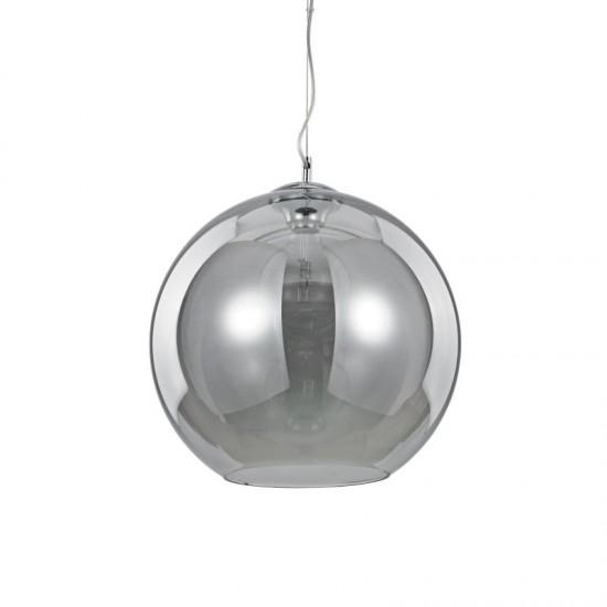 23230-007 Smoky Glass Globe with Chrome Single Pendant -Ø40