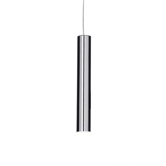 37314-007 Chrome Metal Tube Single Hanging Pendant
