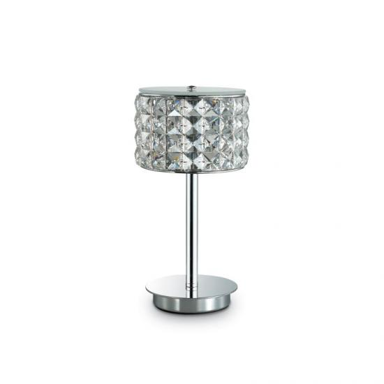 37425-007 Crystal with Glass Diffuser Table Lamp