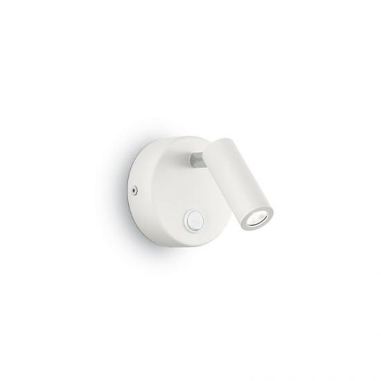 912800-007 White Round LED Bed Side Wall Lamp