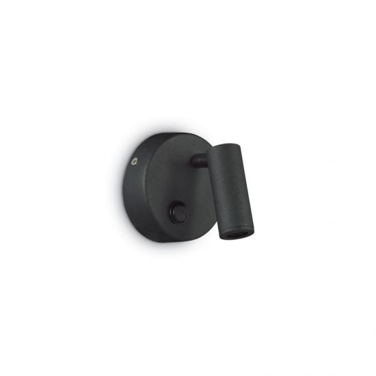 912801-007 Black Round LED Bed Side Wall Lamp