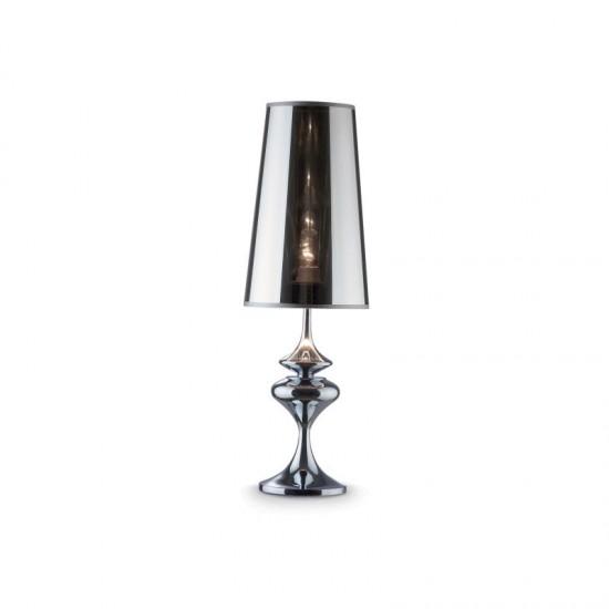 9728-007 Big Smoky with Chrome Table Lamp