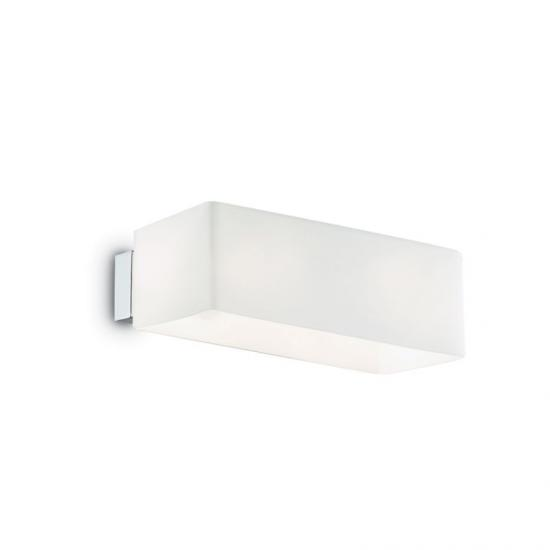 9796-007 White Glass Rectangle Up & Down Wall Lamp
