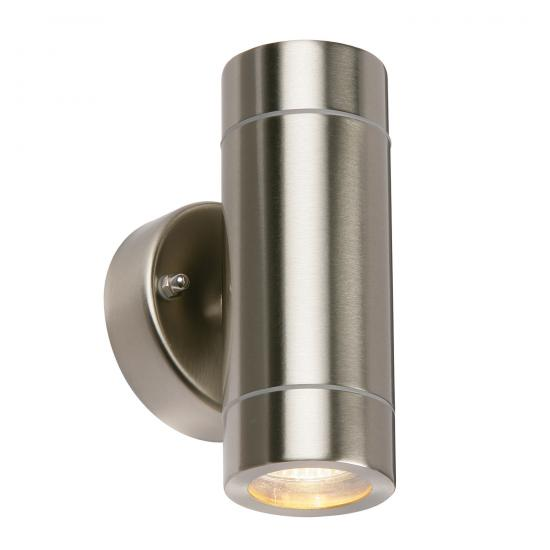 21740-001 Brushed Stainless Steel Up&Down Wall Lamp