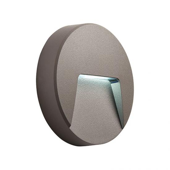 22021-001 Outdoor LED Grey & Clear Wall Lamp