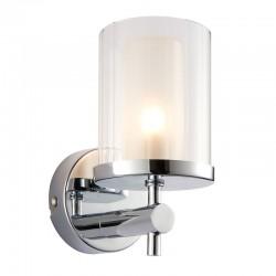 31534-001 Bathroom Wall Light Chrome & clear rippled glass