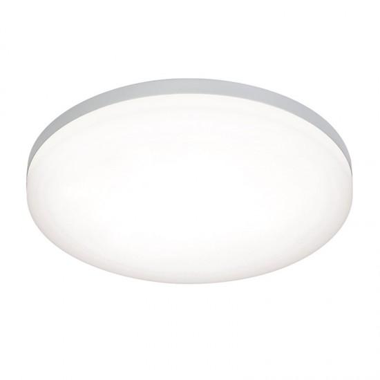 32750-001 LED Slim Opal & Silver Flush