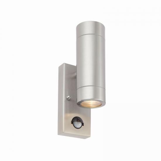 54564-001 Brushed Stainless Steel Up&Down PIR Wall Lamp