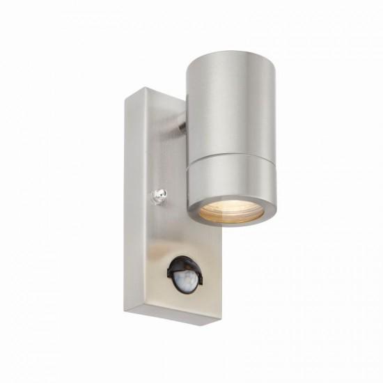 54565-001 Brushed Stainless Steel Downlight PIR Wall Lamp