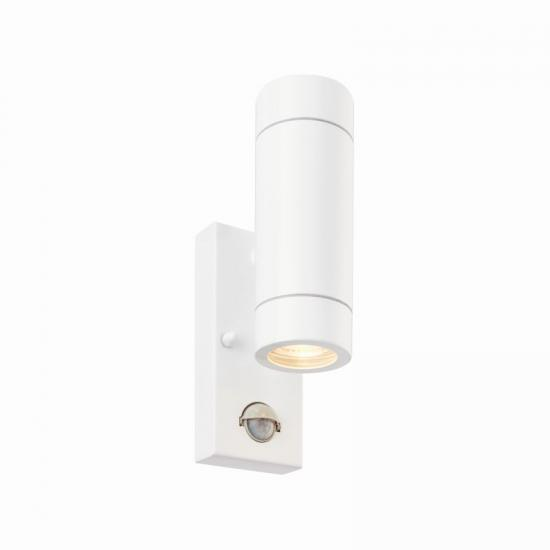 54574-001 Outdoor White Up&Down PIR Wall Lamp