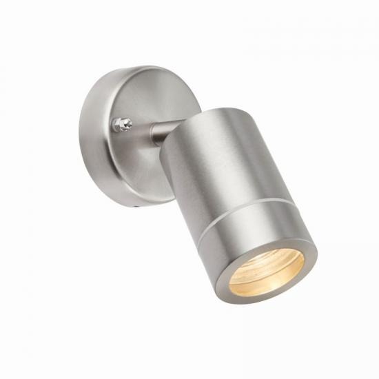 54579-001 Brushed Stainless Steel Single Spot Wall Lamp
