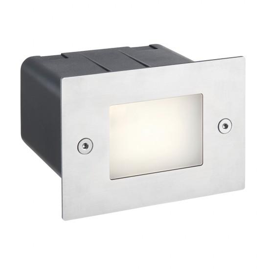 54593-001 LED Marine Grade Stainless Steel Half Brick Light