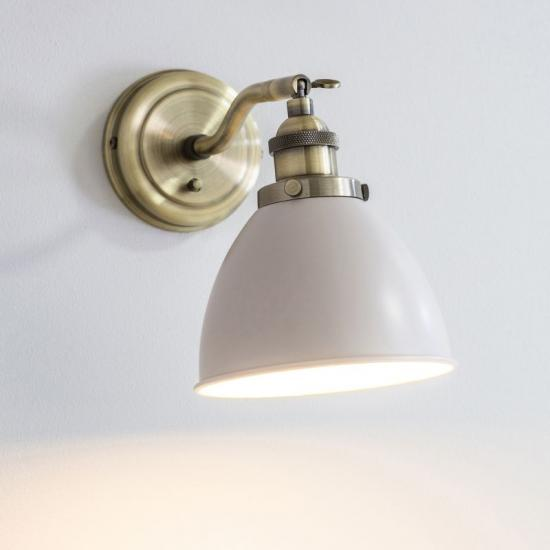 50844-001 Vintage Stone with Antique Brass Wall Lamp