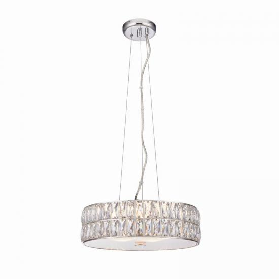 50909-001 Crystal and Frosted Diffuser Hanging Pendant