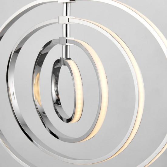 21651-001 LED Chrome Rings 4 Light Hanging Pendant