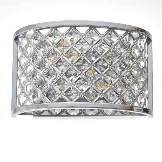 909-001 Crystal with Polished Chrome Wall Lamp