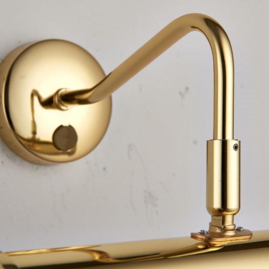 1086-001 Polished Brass Medium Picture Light