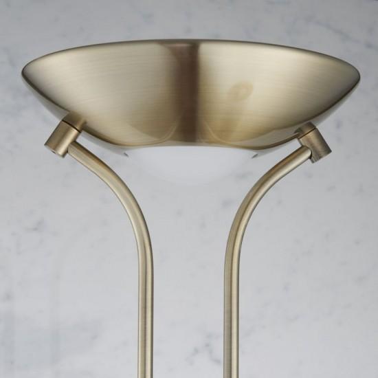 1112-001 Antique Nickel Mother&Child Uplighter Floor Lamp