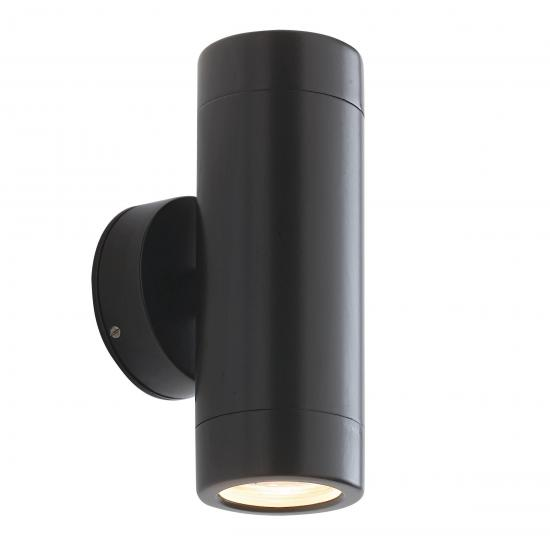 22438-001 Outdoor Satin Black Up&Down Wall Lamp