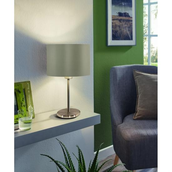 30985-002 Taupe & Gold with Nickel Table Lamp