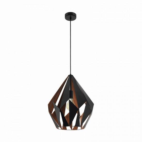 20845-002 Vintage Black & Copper Single Big Pendant