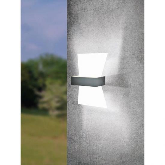 59382-002 LED White & Anthracite Wall Lamp