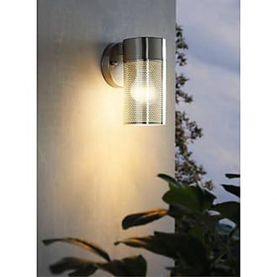 59397-002 Clear Glass & Stainless Steel Wall Lamp