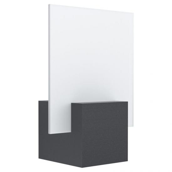 59399-002 LED White Satin Glass & Black Wall Lamp