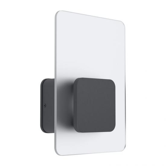 62084-002 LED White Satin Glass & Anthracite Wall Lamp