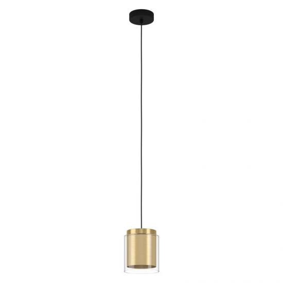 64310-002 Clear Glass & Gold Single Pendant