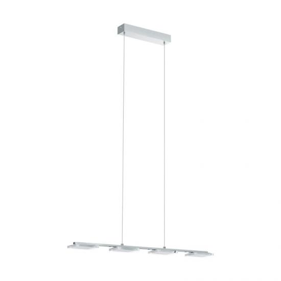 31114-002 LED Clear Diffuser & Chrome 4 Light over Island Fitting