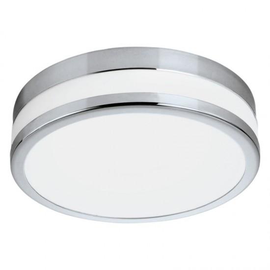 41082-002 LED White & Chrome Small Ceiling Lamp