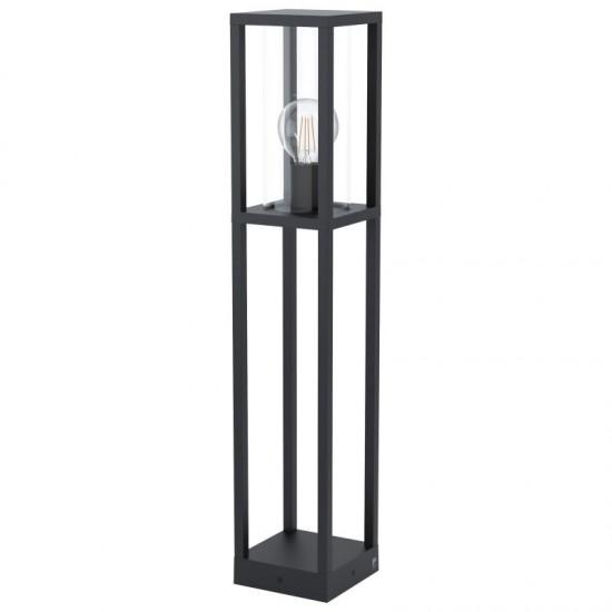 59380-002 Black with Clear Glass Lantern Big Post