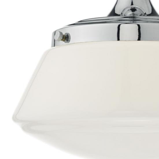 22887-003 Bathroom Polish Chrome and Opal Glass Ceiling Lamp